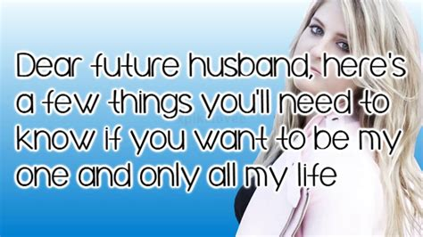 lyrics for husband meghan trainor dear future husband