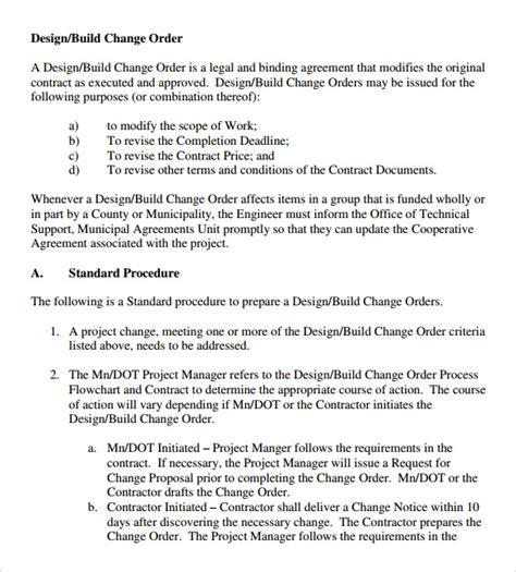 11 Change Order Sles Sle Templates Construction Change Order Template