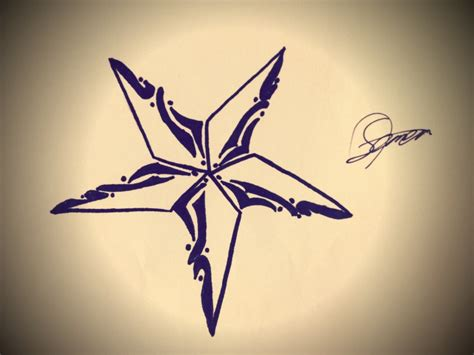 tattoo nautical star design by tattoooooo on deviantart