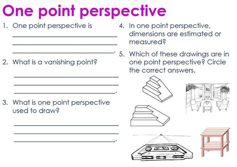 Drawing Questions by One Point Perspective Questions 1pt Perspective