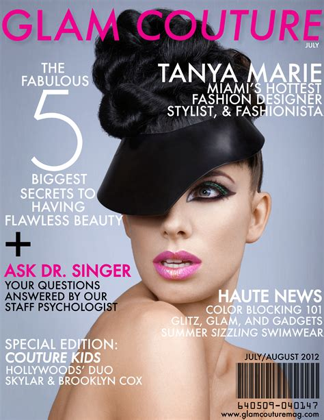 layout cover magazine glam couture magazine cover page design