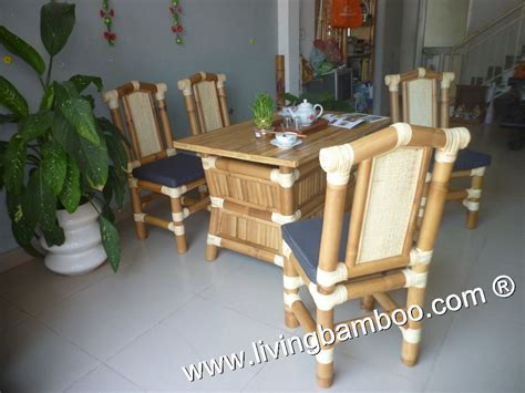 bamboo dining room table bamboo dining table