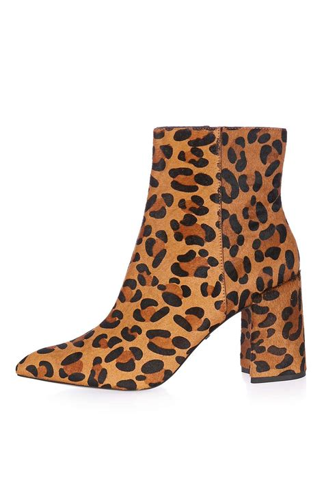 leopard flare boot topshop