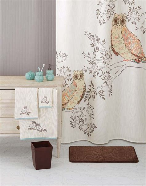owl bathroom accessories owl bathroom decor awesome owls shower curtain 70x71 owl
