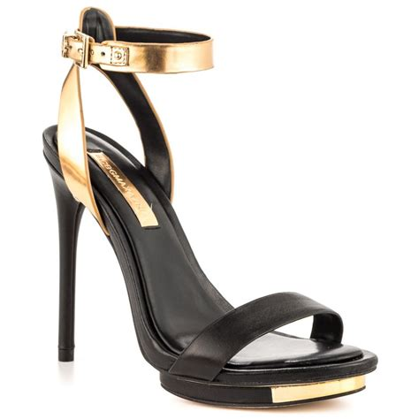 bcbgmaxazria finite black gold dust nappa shoes