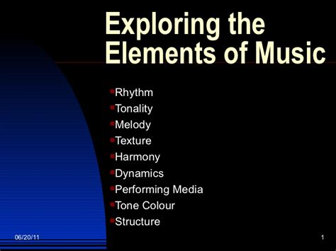 elements music exploring the elements of music