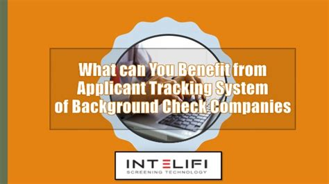 what can you benefit from applicant tracking system of