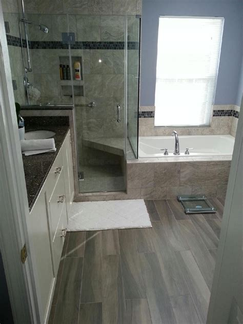 Drop In Tub With Shower Walk In Shower And Drop In Tub Bathrooms