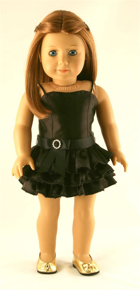black doll pic american doll clothes original black dress with ruffles