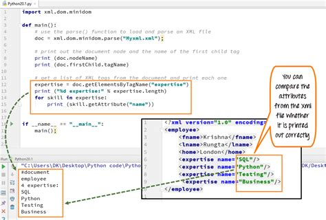 xml tag pattern python xml parser tutorial read xml file exle minidom