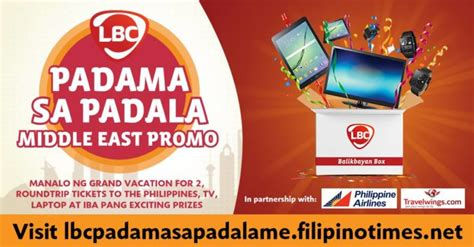 Instan Lbc lbc padama sa padala middle east promo instant prizes and weekly raffle qatar ofw