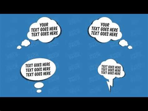 Comic Fx Speech Bubbles Graphic Pack After Effects Template Youtube Speech After Effects Template Free