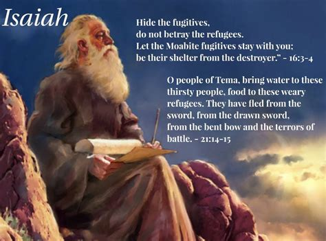 isaiah s a novel of prophets and books prophet isaiah 700 bc bring food to the arab refugees