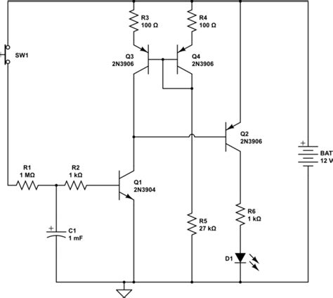 simple resistor capacitor circuit capacitor transistor delay electrical engineering stack exchange