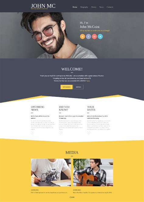 12 Most Useful Author Website Themes Templates Free Premium Templates Best Website Templates For Writers