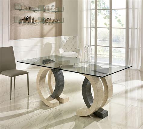 glass top esszimmer tische rechteckig tavolo olimpia in pietra e grigia top 180 cm duzzle