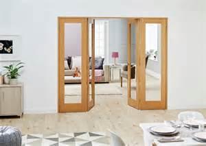Bi Folding Patio Doors Prices Shaker Glazed Oak Frenchfold Room Divider Doors Climadoor
