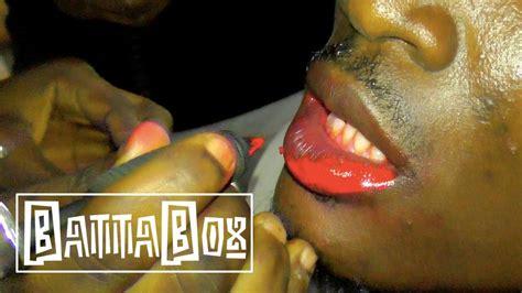 tattoo goo on lips omg mens fashion nigerians tattoo their lips pink youtube