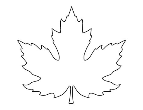 printable full page maple leaf pattern use the pattern