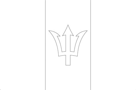 flag coloring pages with key barbados flag coloring pages flag coloring pages with key