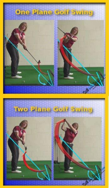 one plane golf swing golf swing plane understanding one vs two