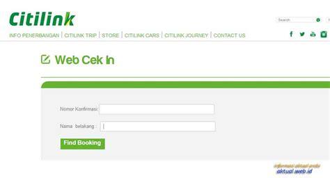 citilink website cara terbaru web check in citilink online informasi aktual