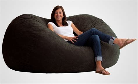 comfort sitters the fuf memory foam oversized beanbag chair