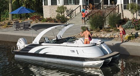 best utah pontoon boats qx25 swingback fiberglass pontoon boats by bennington