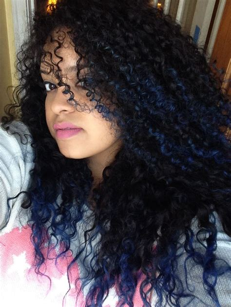 ombre tips and styles for kinky hair blue tips natural curly hair ombr 233 my hair pinterest
