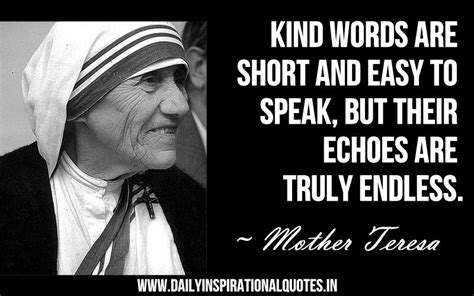 mother teresa easy biography kind words are short and easy to speak but their echoes