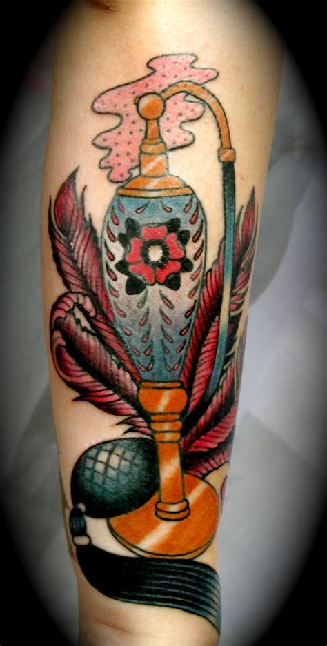 vintage perfume bottle tattoo tattoomagz