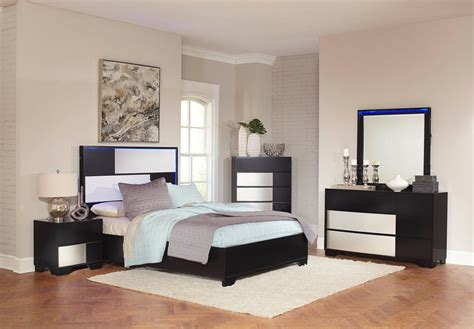 sterling bedroom furniture havering black and sterling platform bedroom set 204781q
