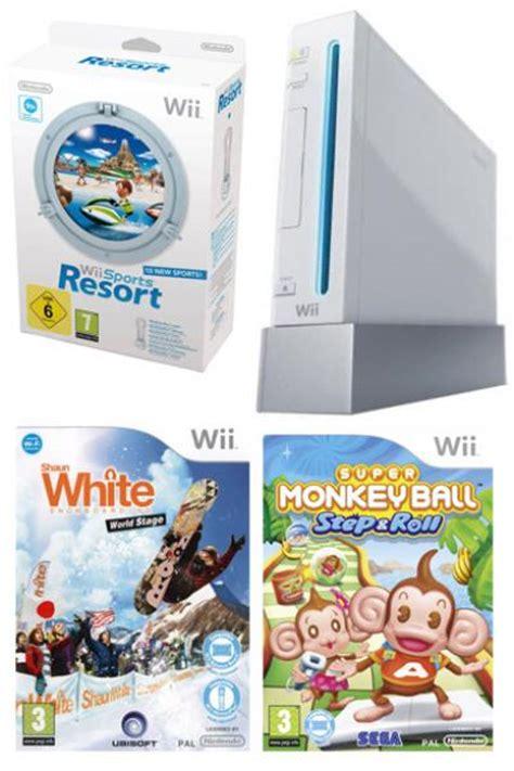 wii console sports resort bundle nintendo wii console bundle including wii sports resort