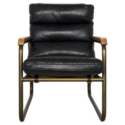 industrial armchair fred industrial loft black leather armchair kathy kuo home