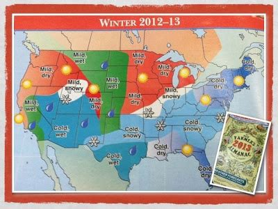 farmers almanac 2012 weather forecast wetter than normal the weather guy 2012 2013 winter outlook