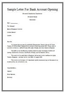 Business Letter Opening Examples Sample Letter To Open Bank Account For Employee Samples Business Letters