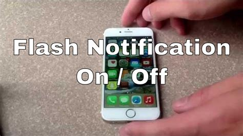 how to turn off flashing light on iphone how to make my iphone 6 light up when ringing