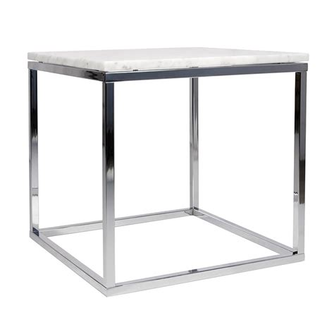 white marble end table prairie white chrome marble end table by temahome eurway