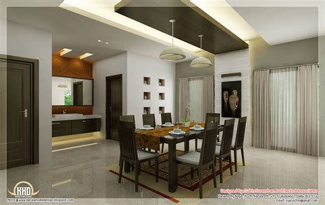 home interior design of hall kitchen and dining interiors kerala home design and