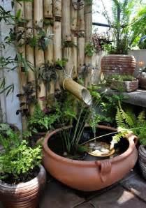 preciosos mini estanques para peque 241 os jardines jard 237 n y