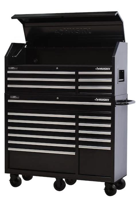 husky 52 in 18 drawer tool chest and cabinet set husky 52 inch 18 drawer tool chest top and bottom 598