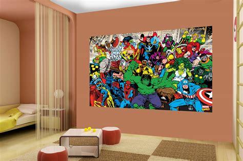 marvel wallpaper for bedroom marvel wallpaper for boy room wallpapersafari
