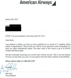 Southwest Airlines Ticket Giveaway - american airways free ticket scam