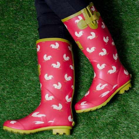 chicken boots igloo blue festival wellies boots from spylovebuy