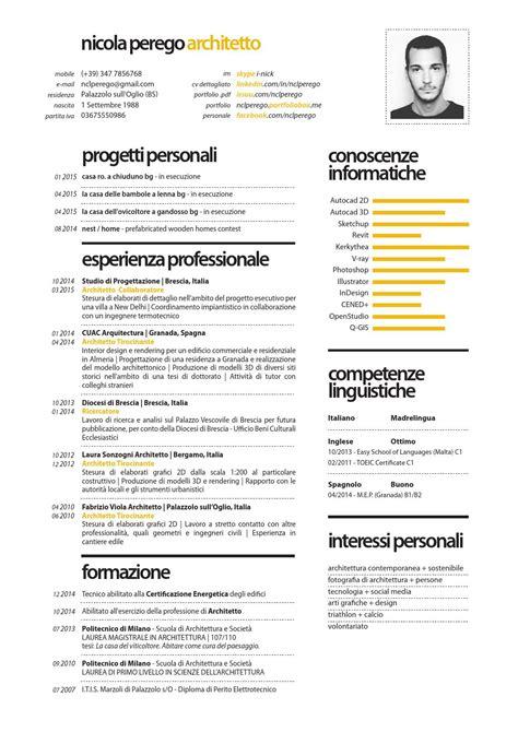 nicola perego architetto curriculum vitae by nclperego