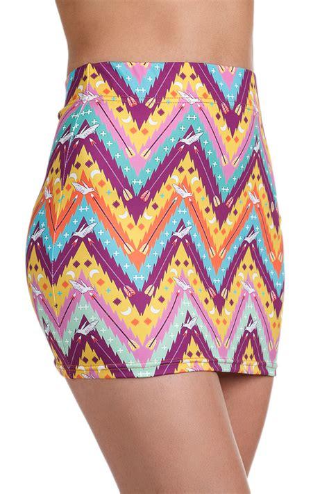 colorful pattern yoga pants leggings zigzaf print women zippy tribal pattern