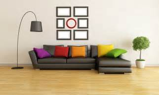 Stylish modern living room couch pillows lamb interior living room