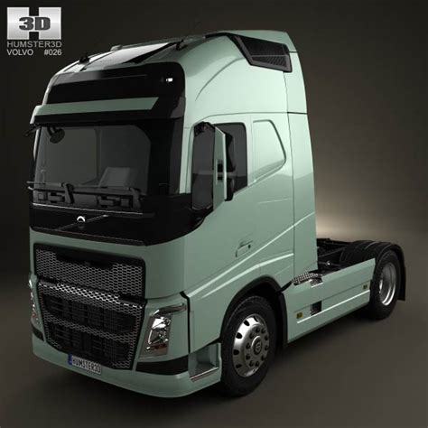 volvo truck new model volvo fh tractor truck 2012 3d model hum3d