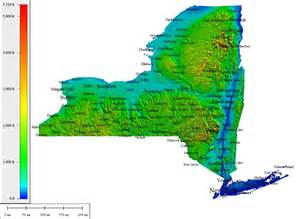 New York Topographic Map by Topocreator Create And Print Your Own Color Shaded