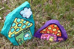 Painting Rocks For Garden Food And Motherhood Recycled For Painted